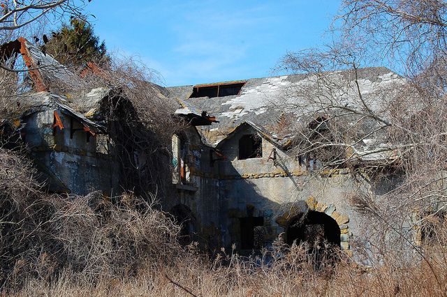 6. Brenton Point Stables, Newport. These old stables found in Brenton Point State Park are slowly being taken over by nature.