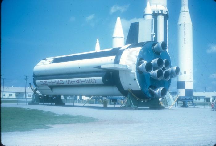 12. Saturn rocket booster in Huntsville, Alabama. (1968)