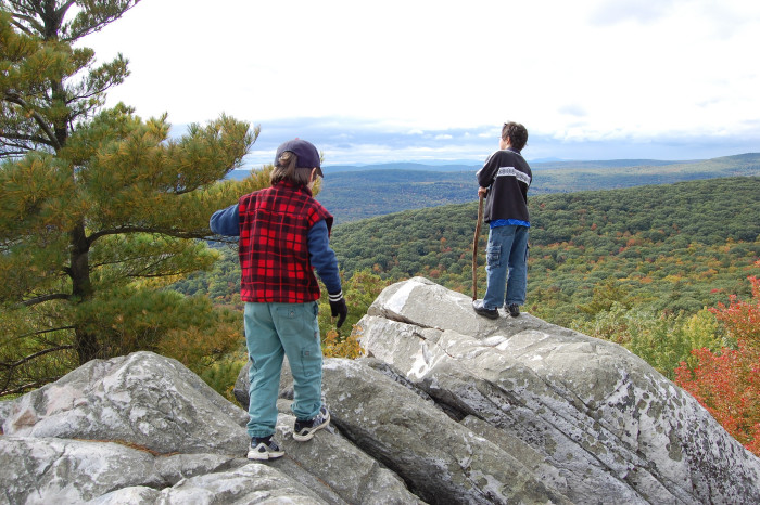 4. These little mountaineers are enjoying a well-earned respite on the crags of Monument Mountain in Great Barrington.