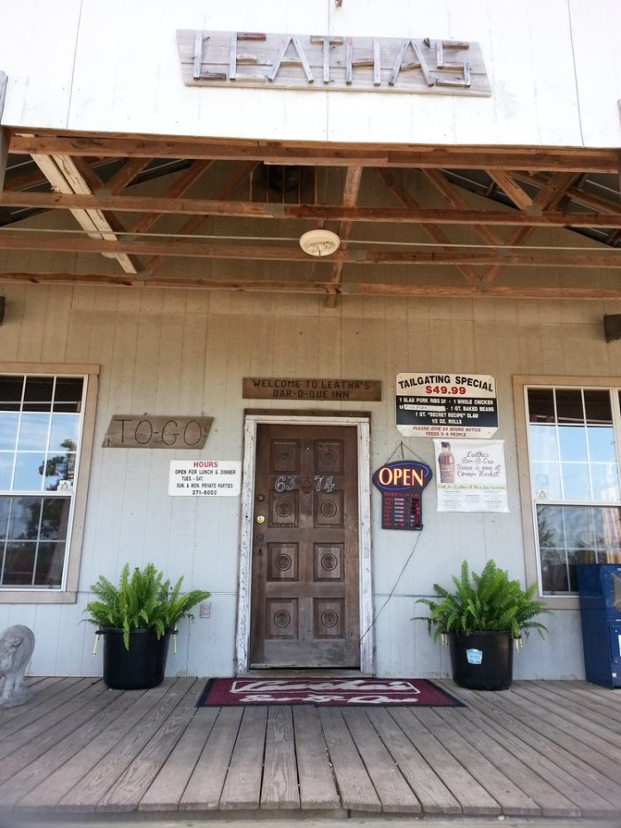 7. Leatha's Barbecue Inn, Hattiesburg