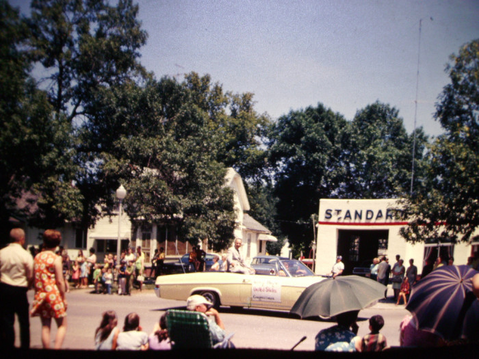 7. This Fourth of July parade in 1970 took place on the crowded streets of Sac City, long before the city was famous for their gigantic popcorn ball.