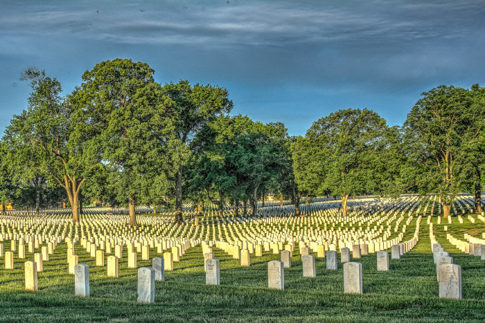 7.A chilling, yet beautiful moment at Jefferson Barracks National Cemetery in St. Louis.