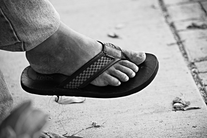 7. You've gotten used to wearing only two pairs of shoes: slippers, and hiking boots.