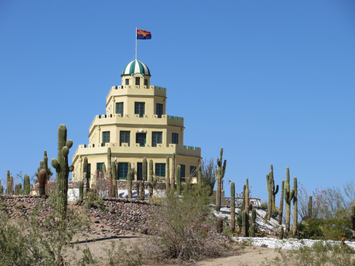 """3. This """"castle"""" looks like a tiered cake and overlooks our state's most populous city."""