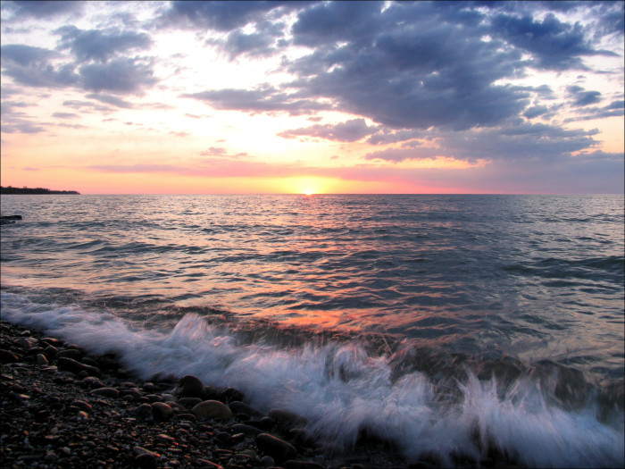 10. The shores of Lake Erie: