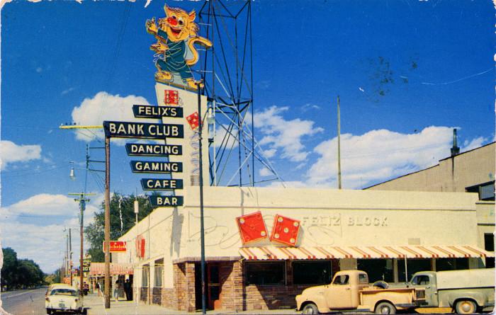 8. Felix's Bank Club, Lovelock, 1950s
