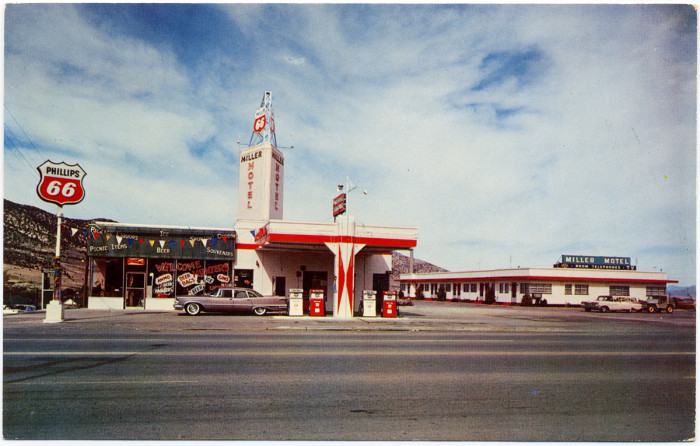 4. Phillips 66, Miller Motel, 1960s - Ely, Nevada