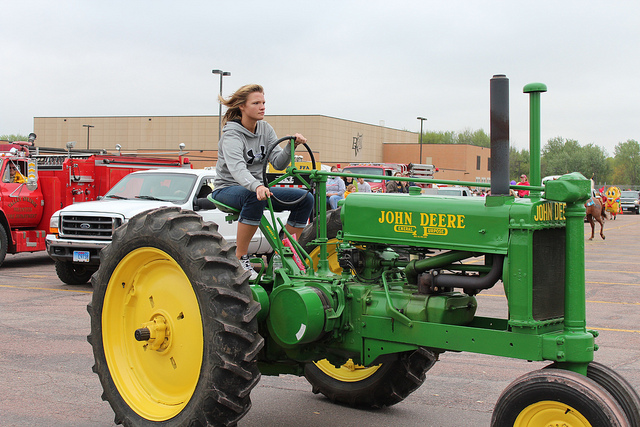 We all drive tractors everywhere.