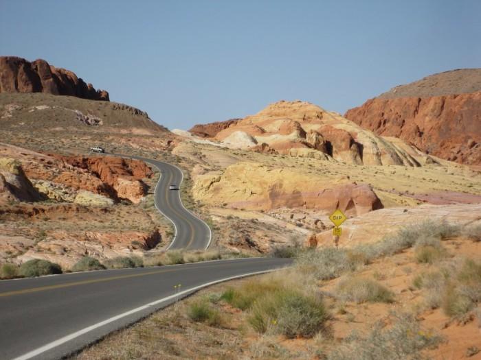 4. Take a long scenic drive through Nevada, enjoying the beautiful views.