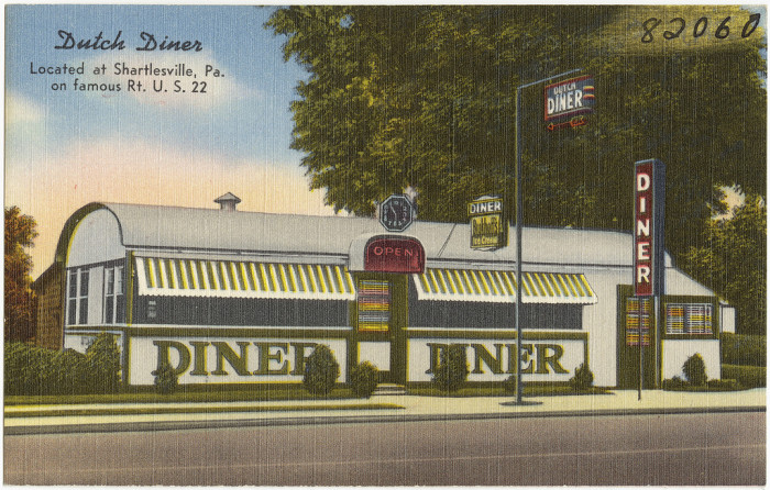 "11. ""Dutch Diner, Located at Shartlesville, Pa. on Famous Rt. U. S. 22"""