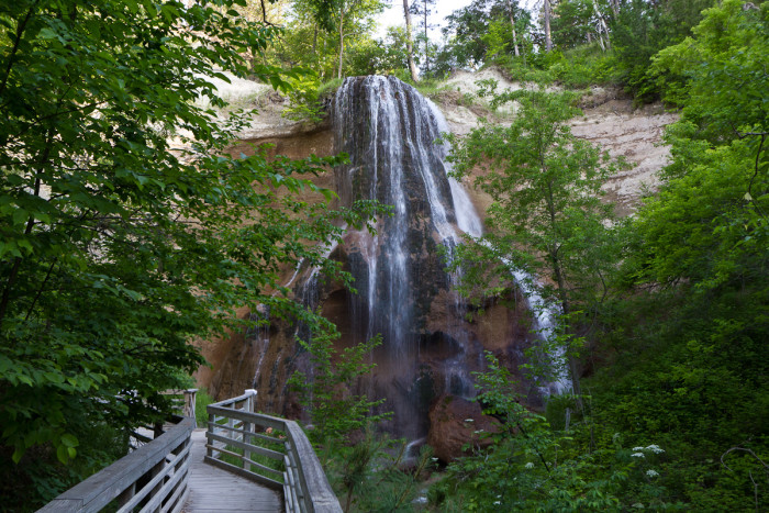 1. Bask in the beauty of the state's most romantic waterfall.