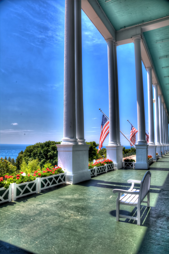 4) The front porch at Grand Hotel, Mackinac Island
