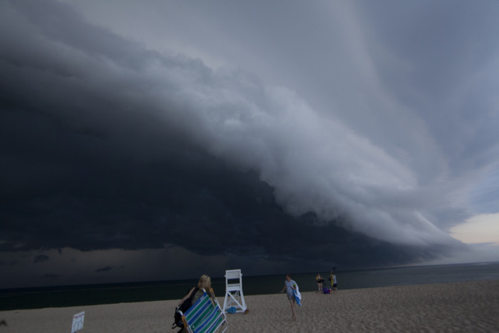 1. A shelf cloud looming over Race Point Beach.