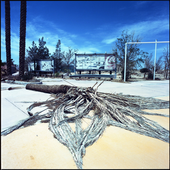 7. The former site of the Lake Delores Water Park in Newberry Springs that closed in the late 80s. It later became Rock-a-Hoola Water Park which also failed.  This is all that remains since its abandonment.