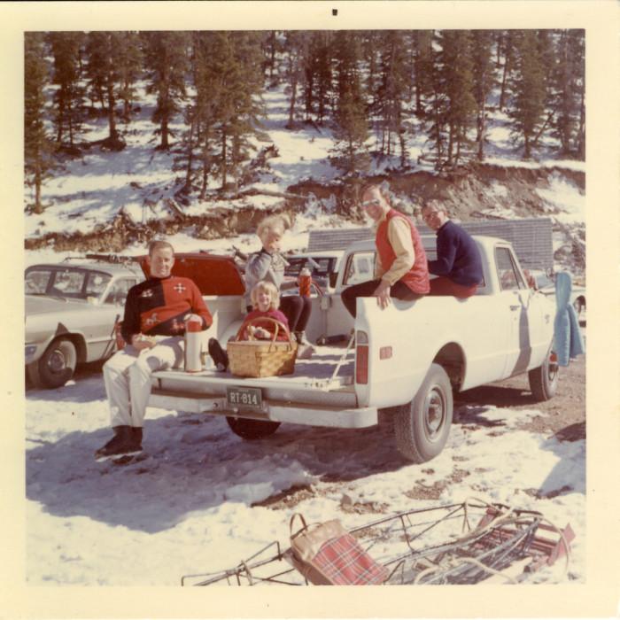 "18. ""Ski Patrol Families at Lunch - Geneva Basin, Colorado."" (1968)"