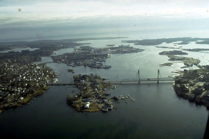 11. Portsmouth Harbor seen from above.