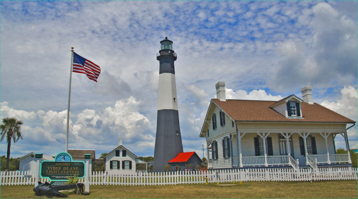Tybee Lighthouse is one of just a handful of 18th-century lighthouses still existing in North America.