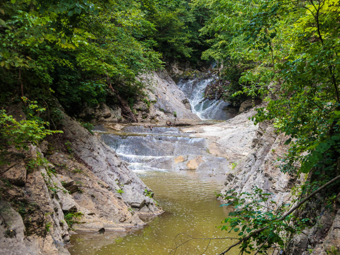 1. Natural Bridge Lace Falls