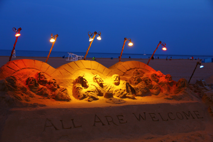 6. The Ocean City sand sculptures.