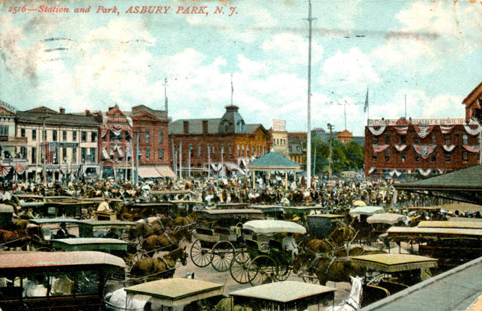 21. The Station area of Asbury Park circa 1908.