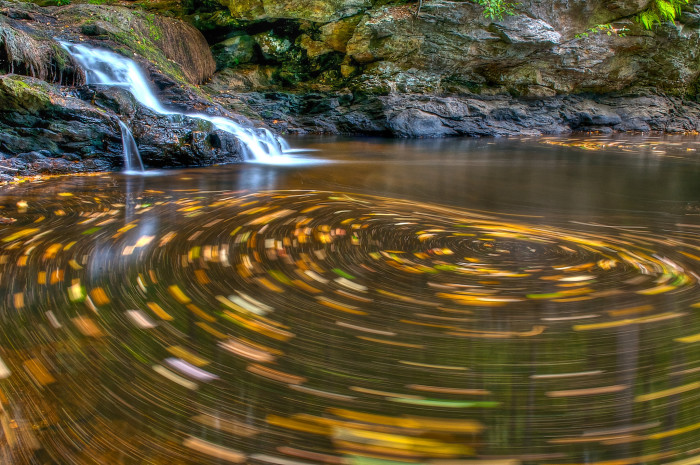 11. A whirlpool in the fall is breathtaking.