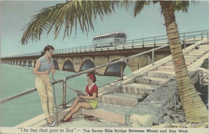 """4. """"'The Bus that Goes to Sea' -- The Seven Mile Bridge Between Miami and Key West"""""""