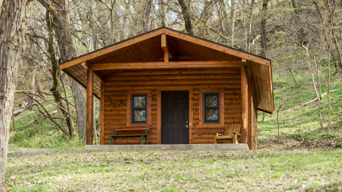 4. If it's seclusion you crave, rent yourselves a cozy cabin at one of Iowa's scenic state parks.