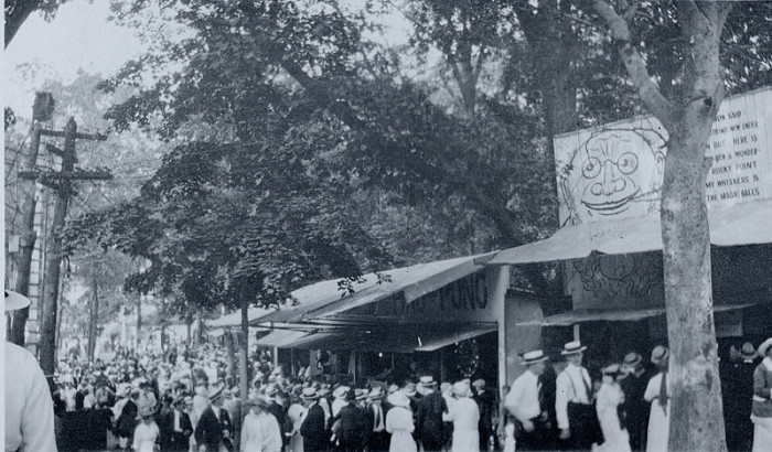1. Few things scream Rhode Island history like this image of a crowd at Rocky Point Amusement Park at the turn of the century.
