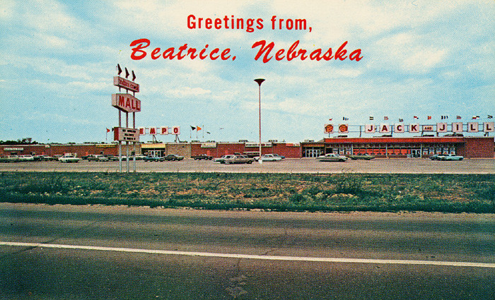 A rather odd postcard from Beatrice, sometime in the 1960s.
