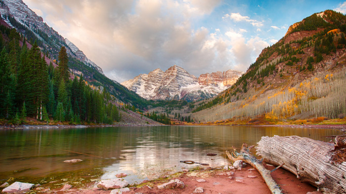 """8. """"Unfortunately, I was a couple weeks too late to catch the Aspen colors! (Note the bare trees on the right.)"""""""