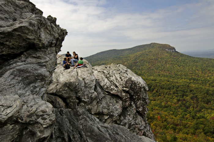 14. Go for a little thrill and a little love at Hanging Rock State Park. Hey, you can pop some bubbly and celebrate your special bond on a rock ledge...pretty cool.