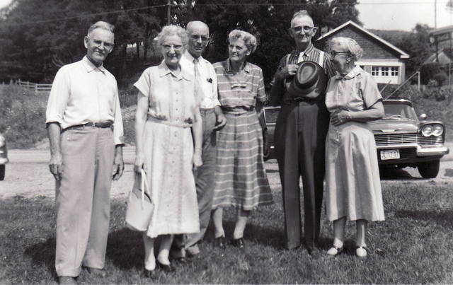 8. This photograph was taken during a family reunion in Washington County, 1960.