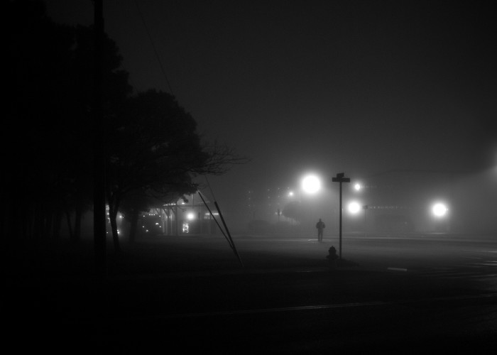 6) This moody scene was taken at a bus station in Ocean City.