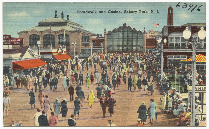 20. Asbury Park Boardwalk and Casino over 75 years ago.