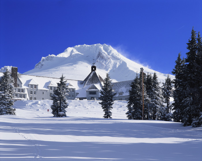 Timberline Lodge is a National Historic Landmark, and it's the takeoff point for Timberline Ski Resort, which has the only year-round lift-served skiing in North America.