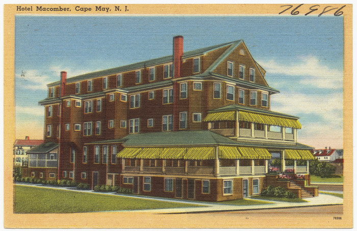 10. Hotel Macomber in Cape May circa 1939.