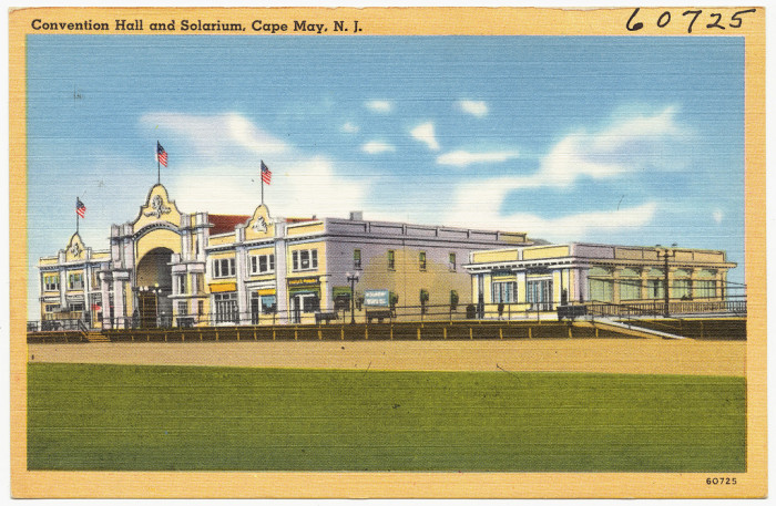 12. Cape May Convention Hall and Solarium circa 1930-1945.
