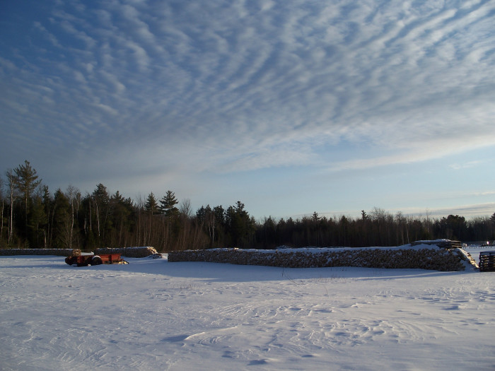 13. Those clouds mirror the snow in the ground.