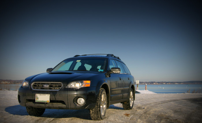 5. We all drive Subarus to work.