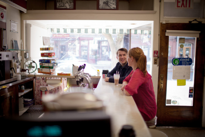20. People still remember how to slow down (perhaps grab a frappe) and have warm conversation. Community still matters. (Shelburne Falls Ice Cream Parlor)