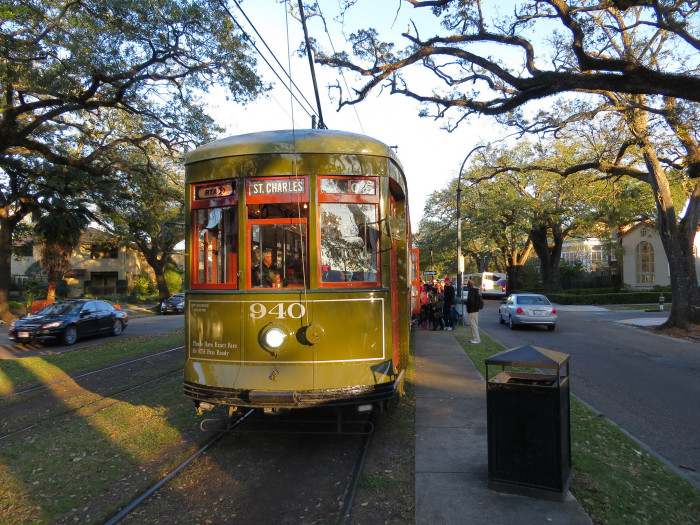 1. Ride on the St. Charles Streetcar