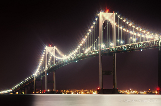 3. The Newport Bridge is an amazing sight every time!  Few things compare to driving over the bay with the windows down in warm weather and seeing the boats and lighthouse in the distance.