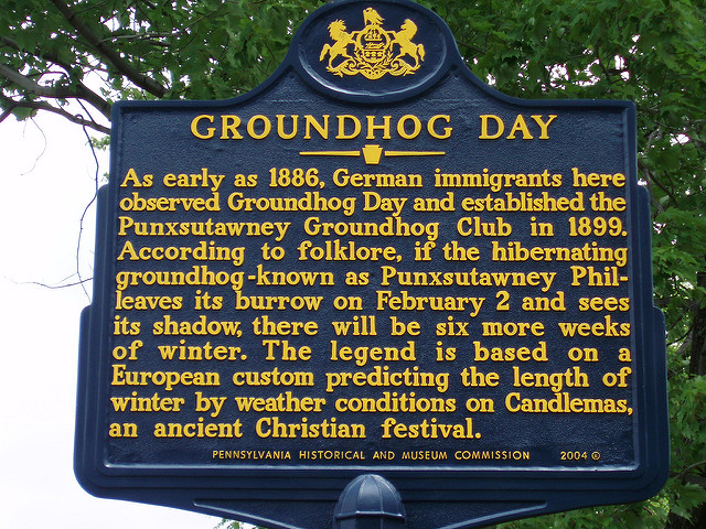 2. The Groundhog Club is an organization in Punxsutawney that facilitate's Phil's predictions each year. They claim that a secret elixir of life has kept the same groundhog alive for generations, and that his prediction rate is 100% accurate.