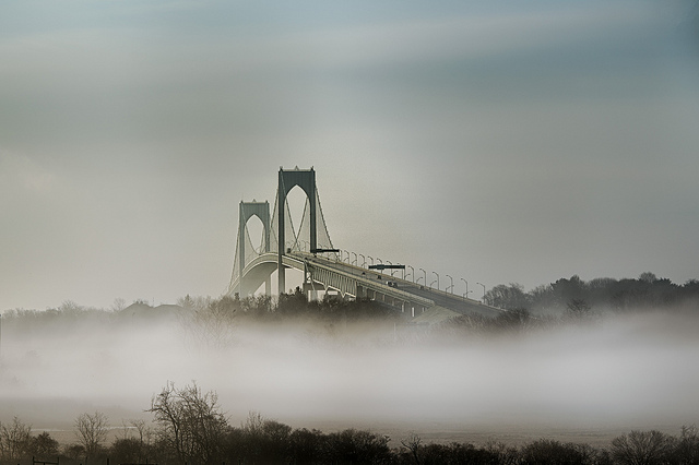 4. The Newport Bridge is always a magical site, but there is something unique about this photo.