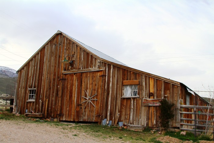 5. A rustic barn in Unionville, Nevada that's been converted for overnight stays.