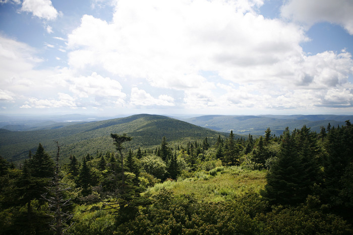 1. The view from Bascom Lodge nestled on the summit of Mt. Greylock.