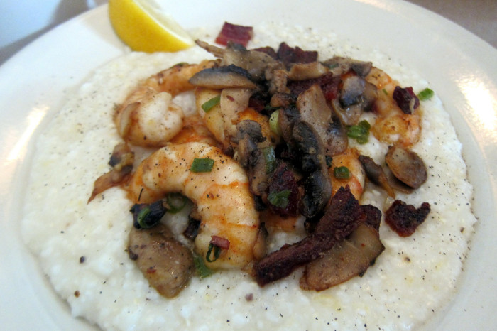 2. Can't forget the perfect balance of flavor with shrimp and grits.