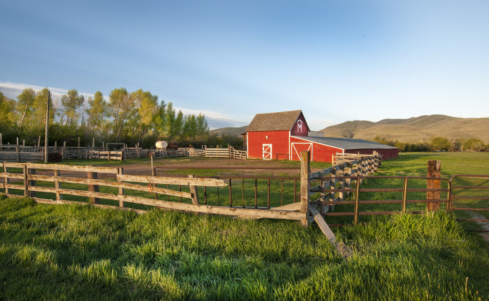 9. You might have a beautiful red barn like this one near Oakley.
