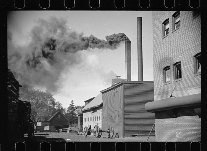 4. A coffin maker's factory in Amoskeag.