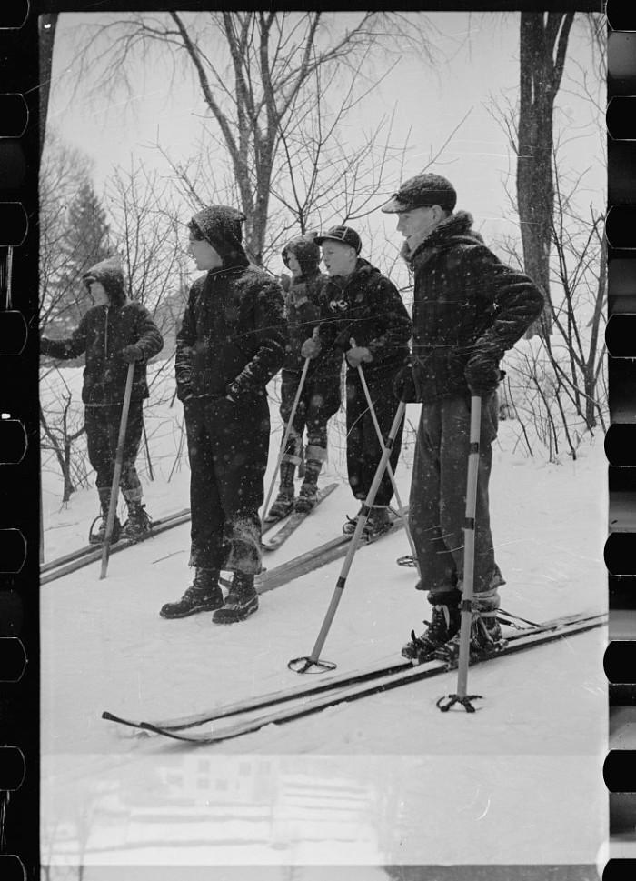 9. Boys ski during a winter carnival in Lancaster.